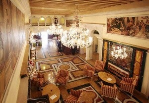 Lobby area at the Boscolo Venezia.