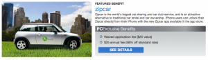 FoundersCard members save big on small zipcar rentals.