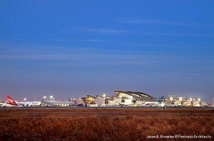 The New Tom Bradley Terminal received its first flights yesterday.