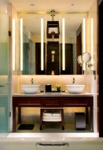 New luxury touches include all-marble baths with dual vanities.