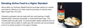 Alaska Airlines are taking their food to a higher level.