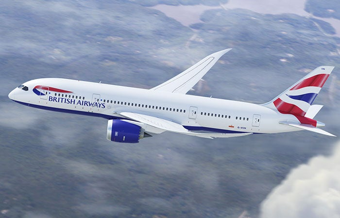 British Airways flies one of its birds to Austin.