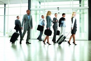 Business travelers are crowding the planes and hotel rooms again.