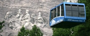A cable car over Stone Mountain is a great family activity.