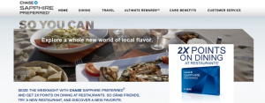 Chase Sapphire Preferred earns you 2X per dollar on dining, or 3X on First Fridays.