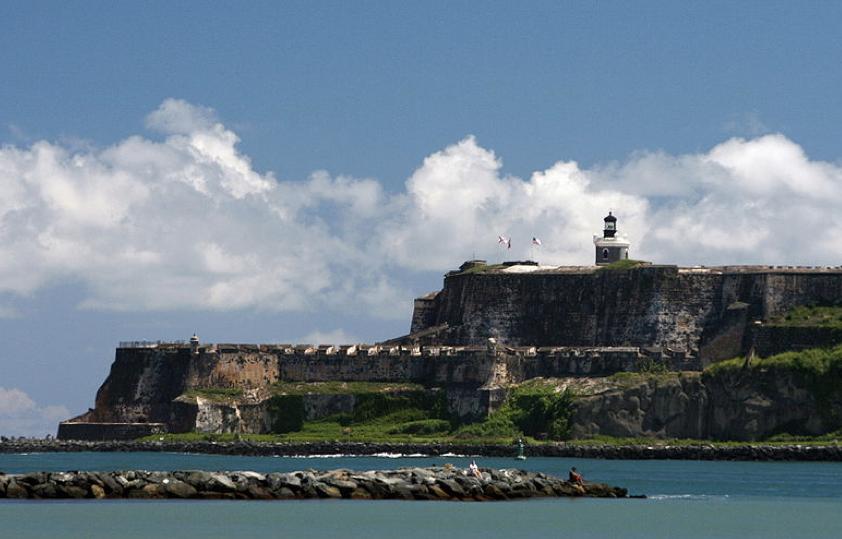 San Juan's El Morro Castle as seen from the sea.
