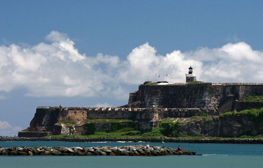 San Juan's El Morro Castle as seen from the sea.