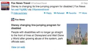 Fox News Disney Line Jumping