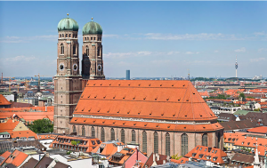 Completed in 1524, the Frauenkirche is built in a Gothic style.