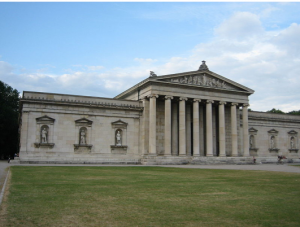 The Glyptothek Museum was commissioned by King Ludwig I and completed by 1830.