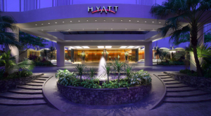 The exterior of the Grand Hyatt Singapore.