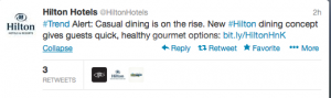 Hilton Hotels Casual Dining.