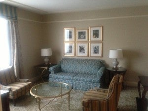 Living area of my Executive Suite