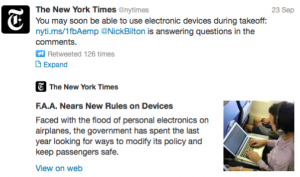 @nytimes has been closely reporting the imminent FAA rule changes.