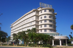 The Normandie Hotel is an example of Art Deco architecture.
