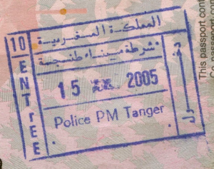 Stamps like this one for Morocco can quickly fill up a passport.