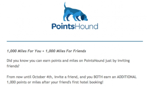 Earn 1,000 miles or points when you refer someone to PointsHound.