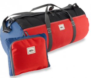 This duffel bag is available from REI for $35.50 and comes with a handy storage sack.