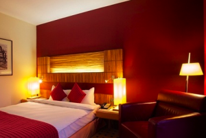 King guest room at the Radisson Blu Belfast.