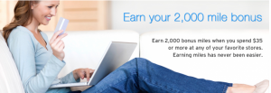 Earn 2,000 bonus AAdvantage miles with the AAdvantage shopping portal.