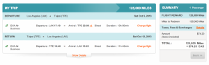LAX-TPE in Business using Aeroplan miles.