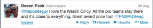 The winning tweet.