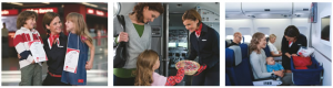 Air Berlin offers some great amenities for kids...even mini-uniforms!