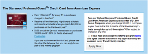 The Starwood Amex's bonus is at a historic high of 21,000 points.