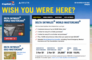 The Capital One Delta Mastercard comes with some great perks.