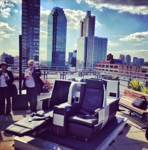 "JetBlue's new Mint seats - they recline to 6'8""."