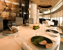 Enjoy upscale Asian dining at Sky 57.