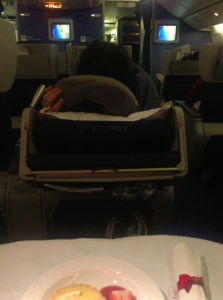 Squashed seat KLM Capetown