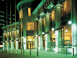 Exterior of the Europa Hotel Belfast.