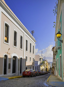 The cobbled streets of Old San Juan.
