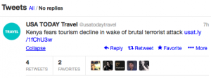 USAToday Travel is following the ongoing situation in Kenya.