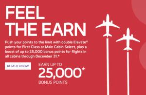 Earn up to 25,000 bonus miles from Virgin America.