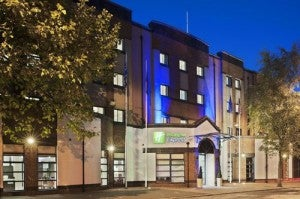 Exterior of the Holiday Inn Express Belfast City.