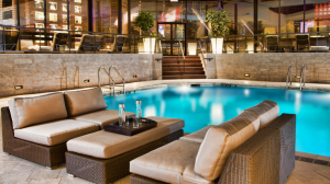 Pool area at the Hyatt Regency Montreal.