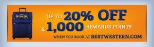 Earn some bonus points with Best Western.
