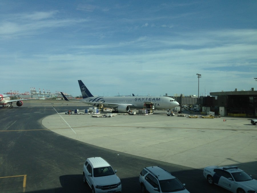My 767-300 in SkyTeam livery.