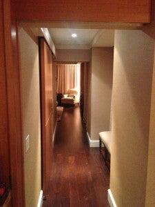 Entering my corner suite.