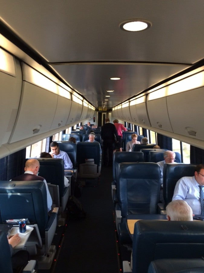 Train Review Amtrak Acela First Class The Points Guy