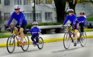Kids love bikes, whether they are on their own bike or on yours!