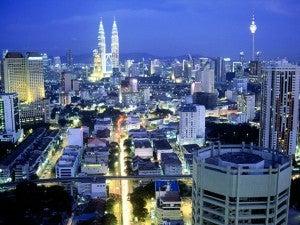 The sparkling Kuala Lumpur skyline.