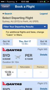 Alaska App Qantas