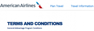 American Airlines Terms & Conditions