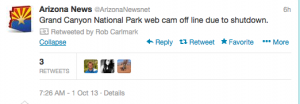@Arizona Newsnet is reporting on the Federal shutdown.