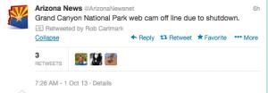 @Arizona Newsnet is reporting on the Federal shutdown.