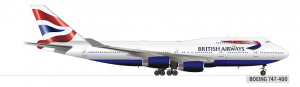 The British Airways Boeing 747-400.