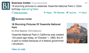 @BusinessInsider celebrates 123 years of Yosemite.